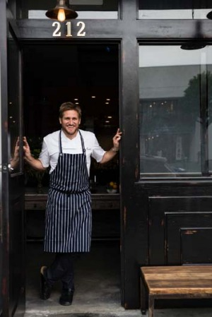 Back in the kitchen ... Curtis Stone has opened his first restaurant in the United States.