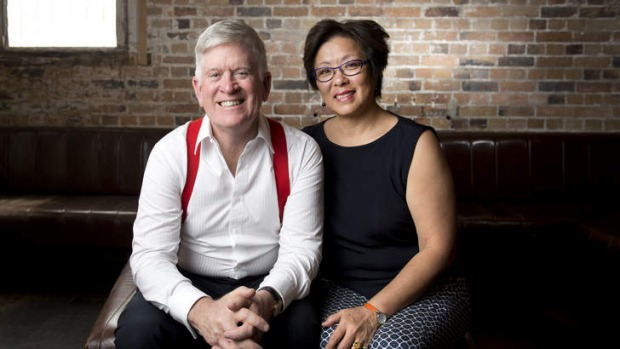 Excited: New owners Godfrey and Jenny Mantel in the space.