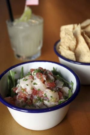 Summer's choice: Tommy's Margarita and Ceviche.