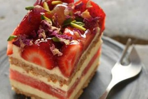 Cult following: Strawberry and watermelon cake.
