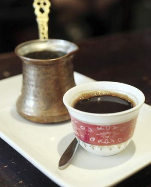 Robust: Middle Eastern coffee.