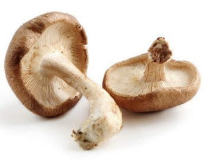 Shiitake mushrooms are high in umami.