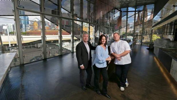 Fast forward: Taxi Kitchen's Martin Webb (left), Sarah James-Page and Tony Twitchett.