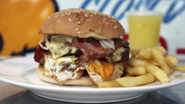 More than a mouthful: Paul's works burger.
