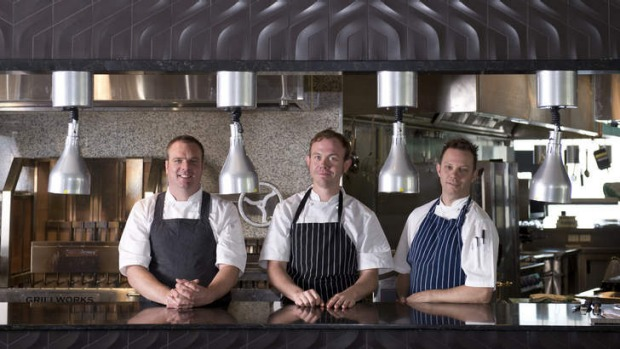 The kitchen crew ... Executive chef Jake Nicolson, head chef Anthony Donaldson and pastry chef Lee Wright at Blackbird ...