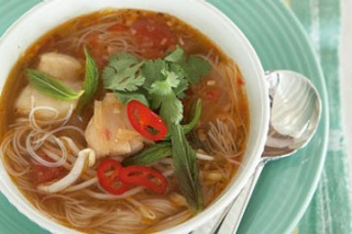 Vietnamese fish and noodle soup