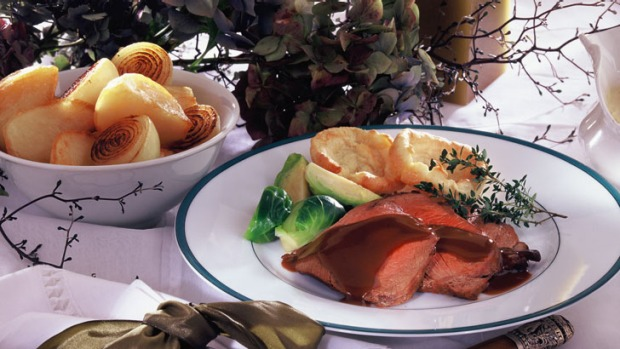 Roast beef with yorkshire puddings recipe good food murdoch recipe article lead wide forumfinder Choice Image
