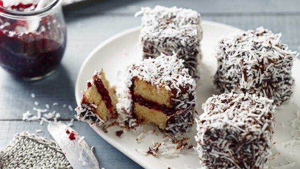 Pete Evans' gluten, wheat and dairy-free Australia Day lamingtons.