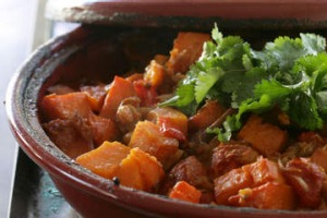 Ginger and vegetable tagine.