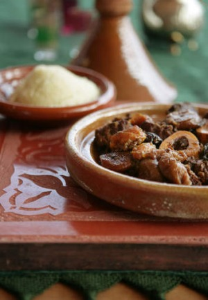 Beef tagine with dried fruits