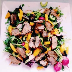 Freshly-made duck salad is one of Shari Wakefield's favourite meals.