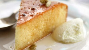 Sticky Greek lemon and yoghurt cake.