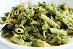 Broccoli and anchovy penne.