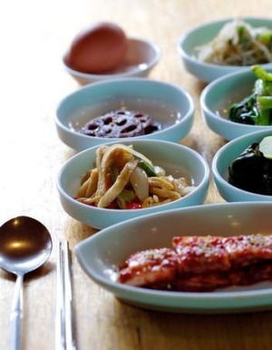 Spoilt for choice: Banchan are side dishes served at a Korean meal.