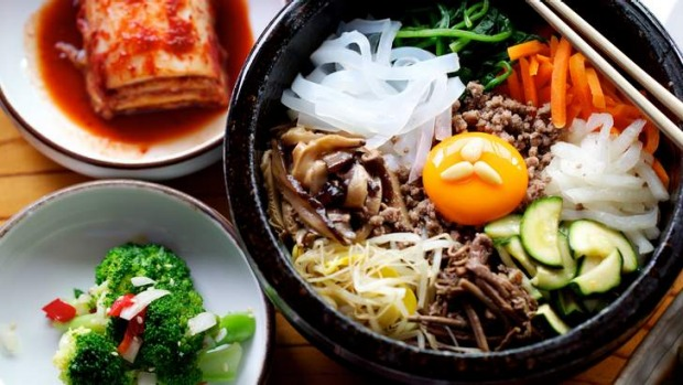 Bibimbap from Maroo Korean barbecue restaurant in Ryde is a one-bowl wonder with rice, beef mince,  vegetables, egg and ...