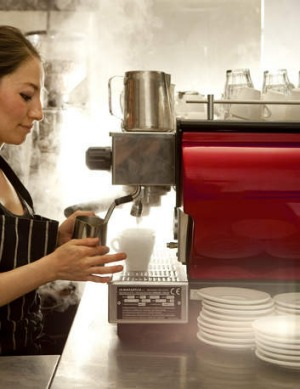 Most baristas use the touch method when steaming milk.