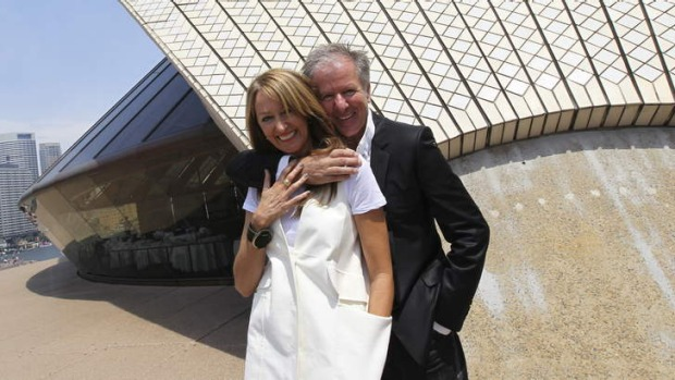 Sunk deal: Sharon and Frank Van Haandel outside the restaurant at the Sydney Opera House.