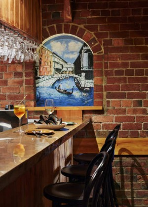 Unchanged: Chianti's dining room has been spared a hip makeover.