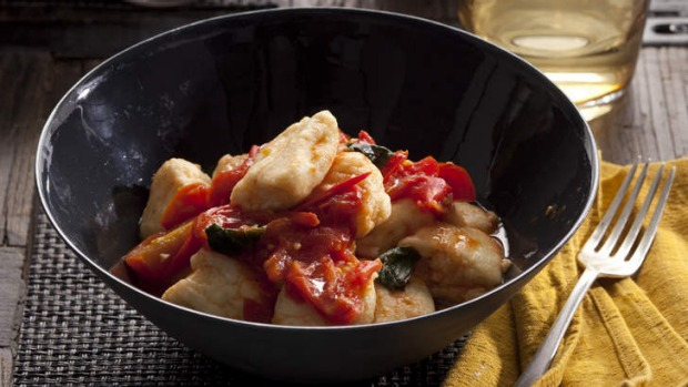 Ricotta gnocchi is much easier and quicker to make than traditional, potato gnocchi.