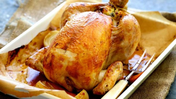 Classic roast chicken with bread and butter stuffing Recipe | Good ...