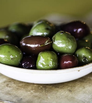 Smolt cafe's marinated olives.