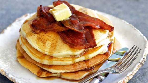 Use up sour milk by making fluffy, American-style pancakes.