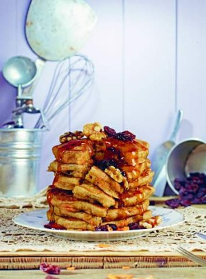 Carrot cake pancakes from <I>Isa Does It</I> (Hachette Australia).