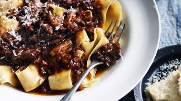 Oxtail ragu is a hearty make-ahead pasta sauce.