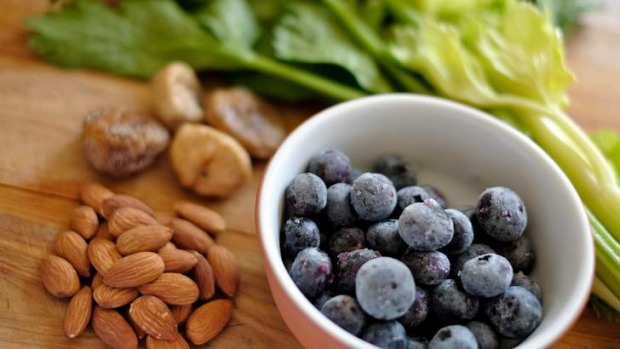 Balance: Berries, nuts, dried figs and celery can all make great smoothie additions.