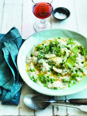 Pea, mint and ricotta risotto.