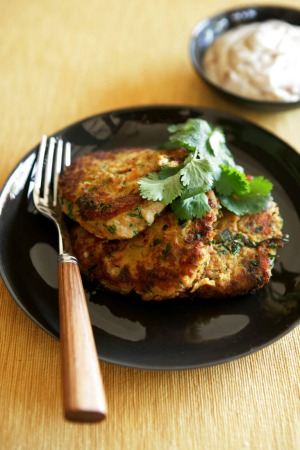 Jane and Jeremy Strode's chickpea fritter