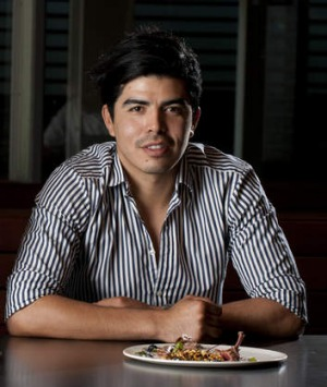 Humbled: GOMA's Josue Lopez is excited to cook for Adria.