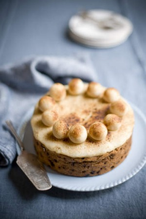 Simnel cake, a traditional Easter cake.