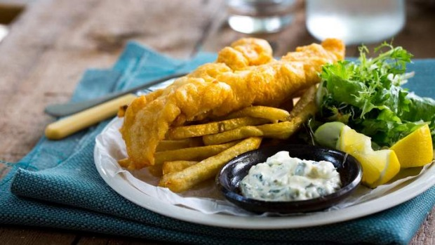 Classic beer battered fish and chips recipe good food for Fish dish burbank