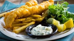Adam Liaw's beer-battered fish and chips.