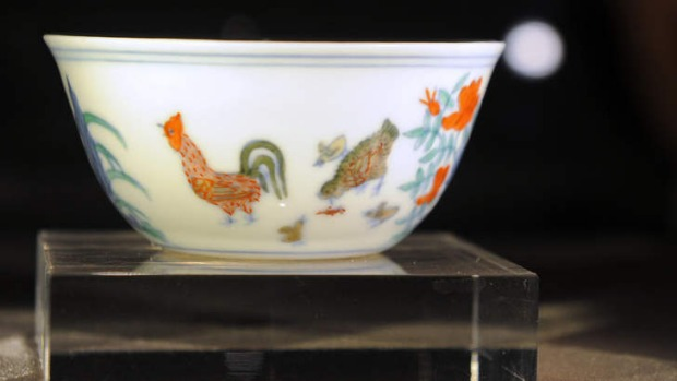The Meiyintang Chenghua 'chicken cup'.