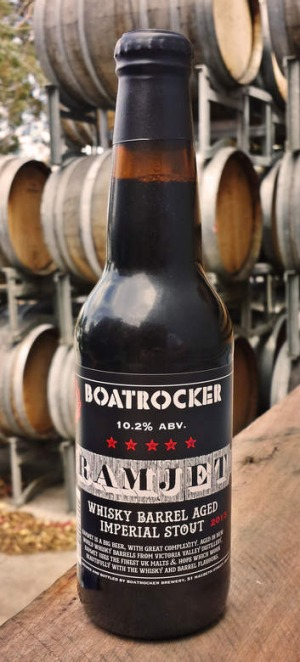 Boatrocker Ramjet: Subtle whisky and wood character.