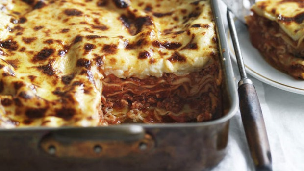 A crowd-pleaser ... buffalo mozzarella lasagne.