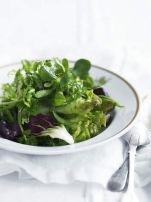 Gorgeous greens ... The Rockpool salad.