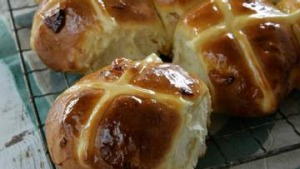 Apricot and Cardamom Hot Cross Buns