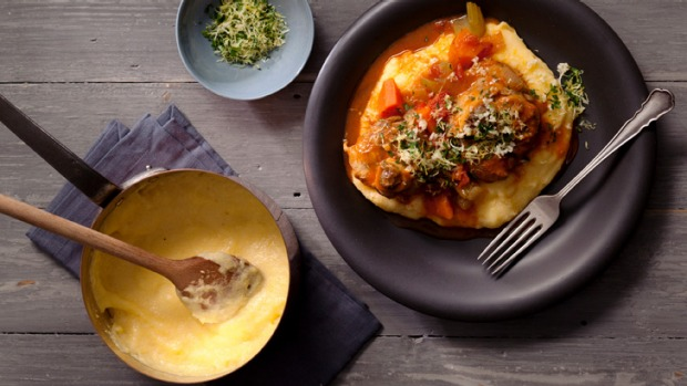 Osso bucco with gremolata and polenta.