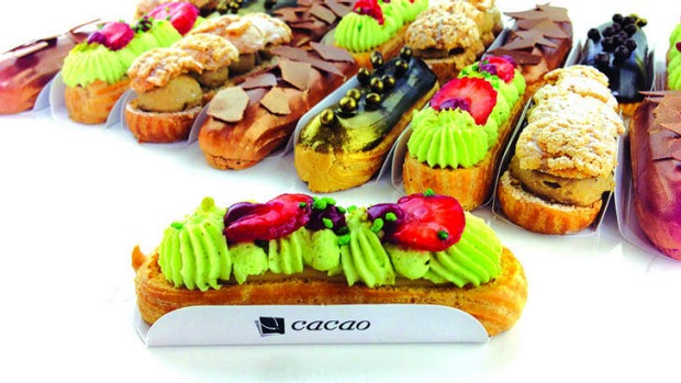 New-style eclairs at Melbourne's Cacao Lab.