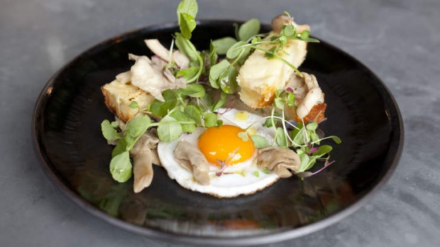 The duck egg, oyster mushroom and truffle butter dish is one of the cafe's most popular.