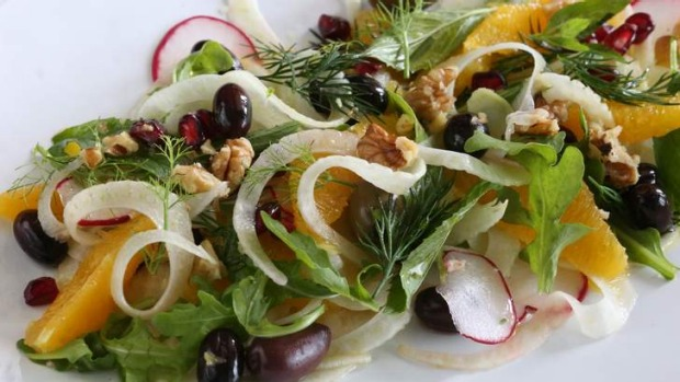 Fennel and orange salad will bring a bit of brightness to a winter ...