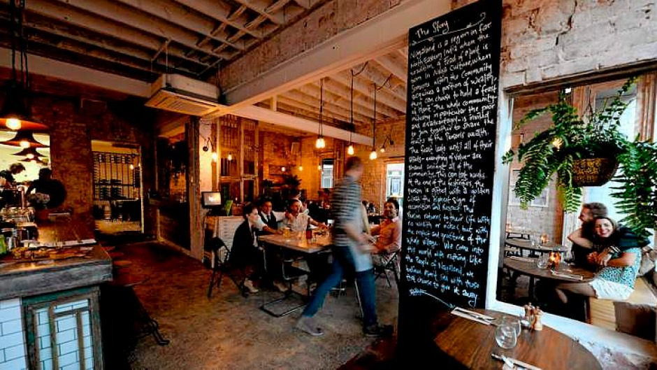 Rough diamond: Feast of Merit's industrial chic fitout.