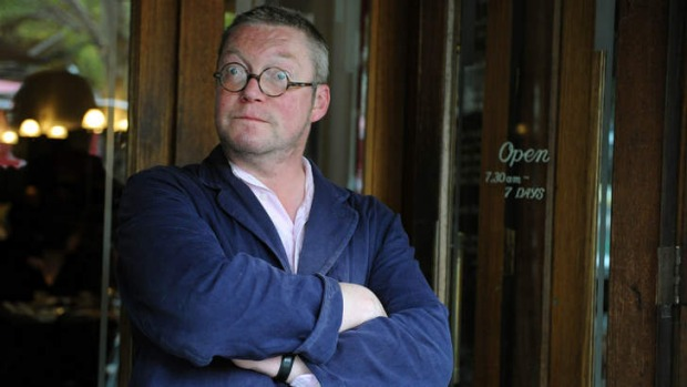 Fergus Henderson outside the European in Melbourne in 2012.