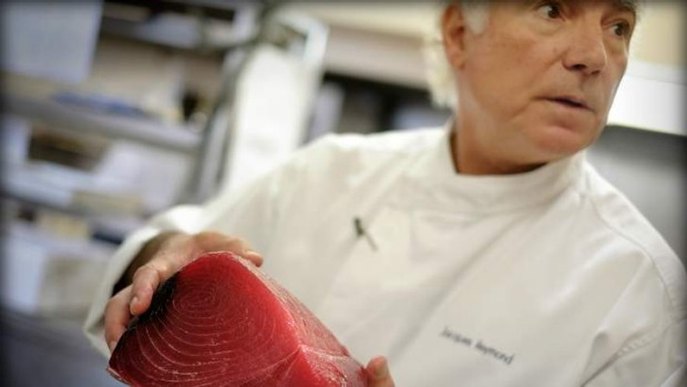Jacques Reymond during his last shift at his eponymous  restaurant in December last year.