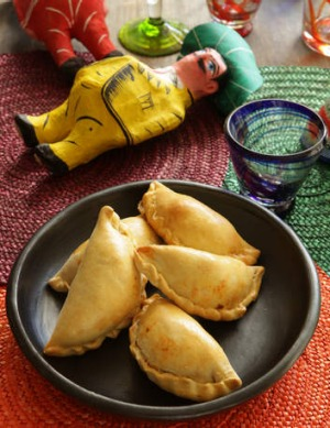 Party time: Spicy beef empanadas.