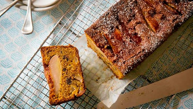 Seamless blending of flavours: Pear, chocolate and hazelnut cake.