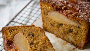 Pear and hazelnut cake.